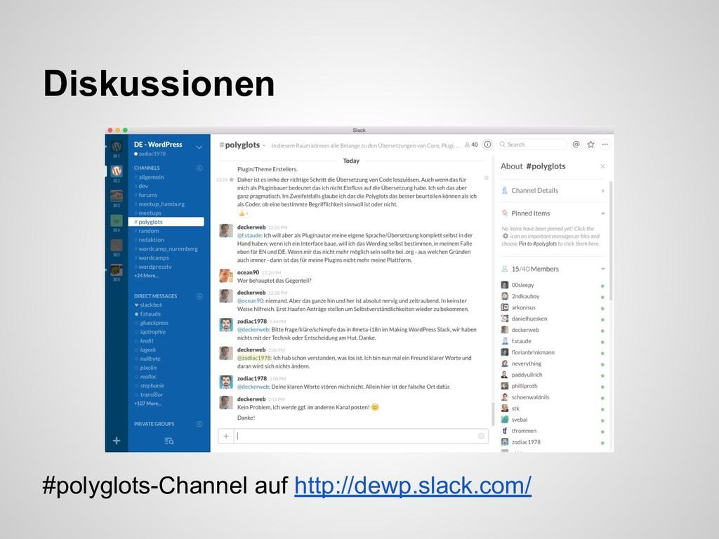 #polyglots-Channel auf http://dewp.slack.com/ D...
