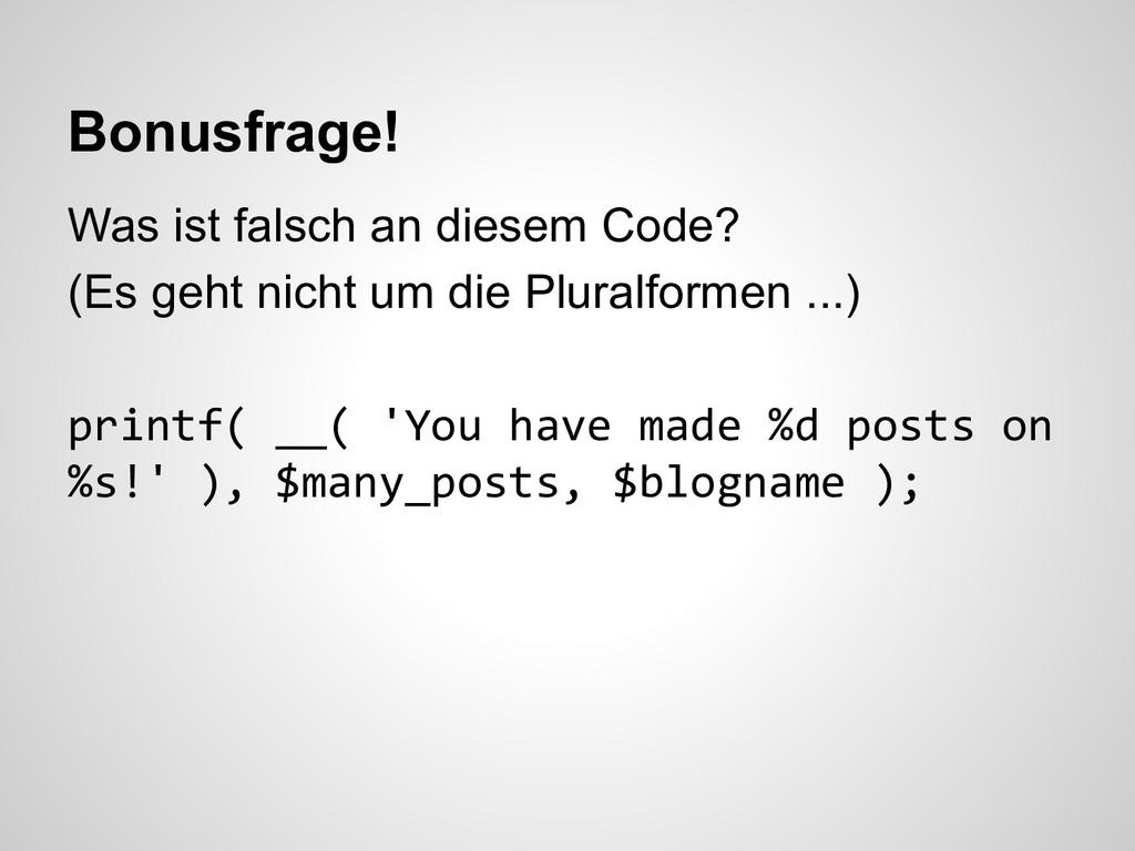 Was ist falsch an diesem Code? (Es geht nicht u...