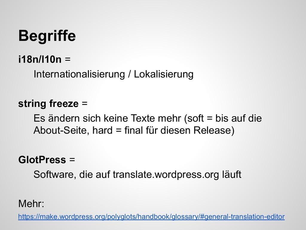 i18n/l10n = Internationalisierung / Lokalisieru...