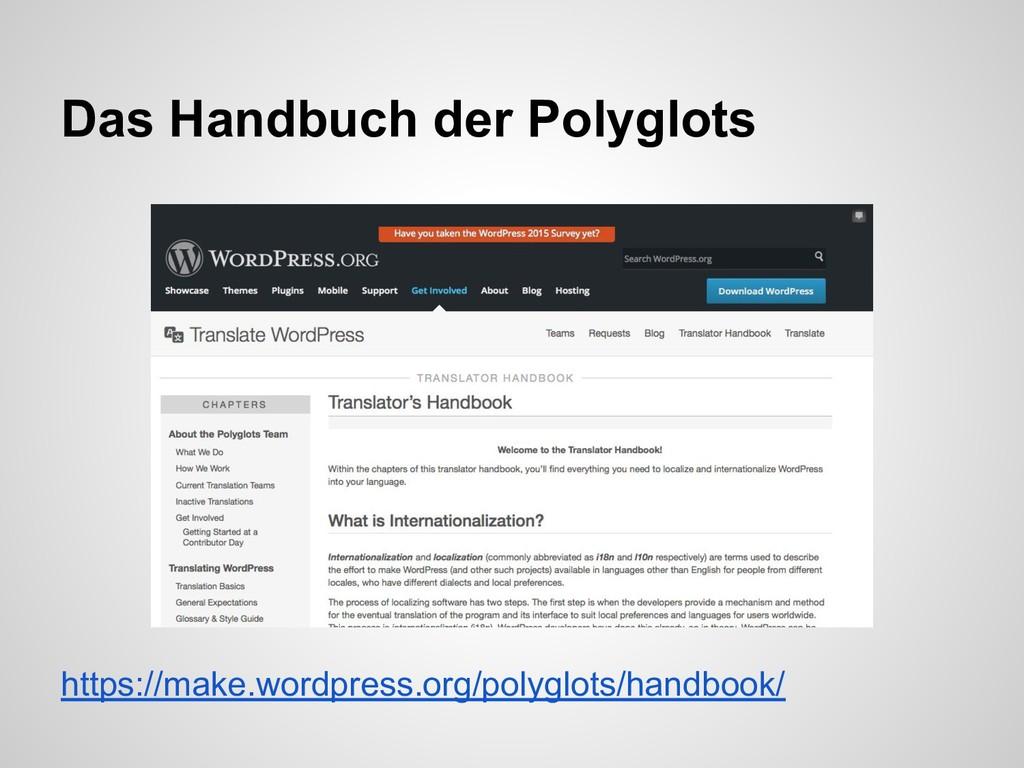 https://make.wordpress.org/polyglots/handbook/ ...