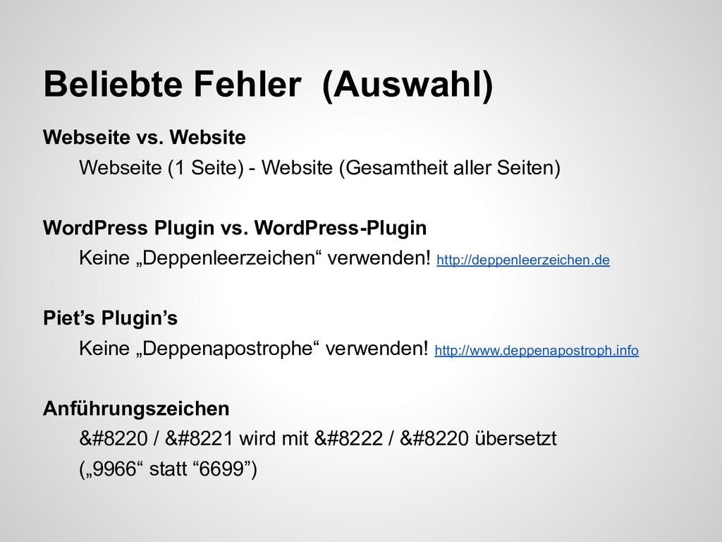 Webseite vs. Website Webseite (1 Seite) - Websi...
