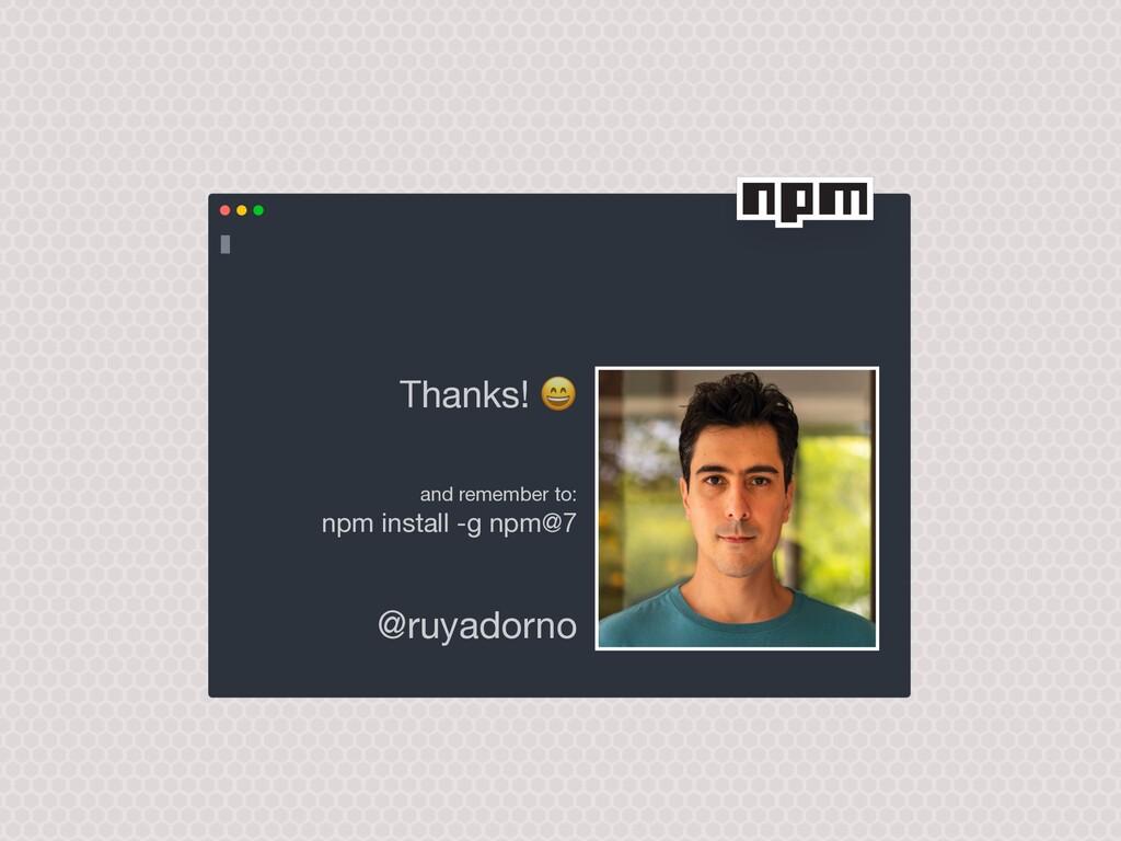 @ruyadorno and remember to:  npm install -g n...