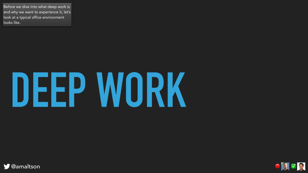 DEEP WORK ✅  @amaltson Before we dive into what...