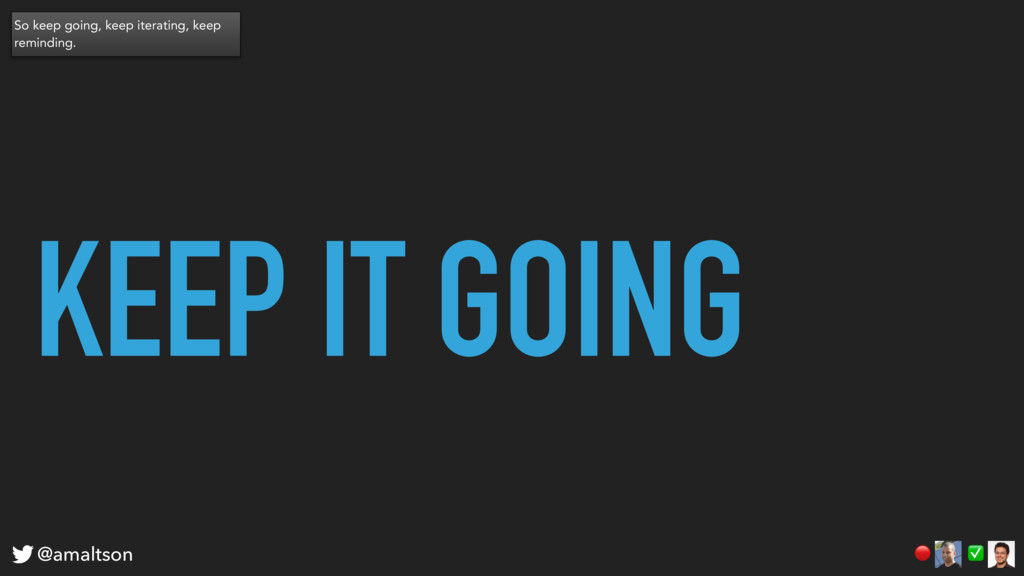 KEEP IT GOING ✅  @amaltson So keep going, keep ...