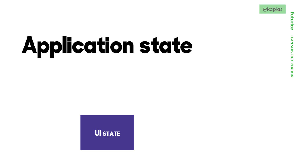 LEAN SERVICE CREATION Application state UI STAT...
