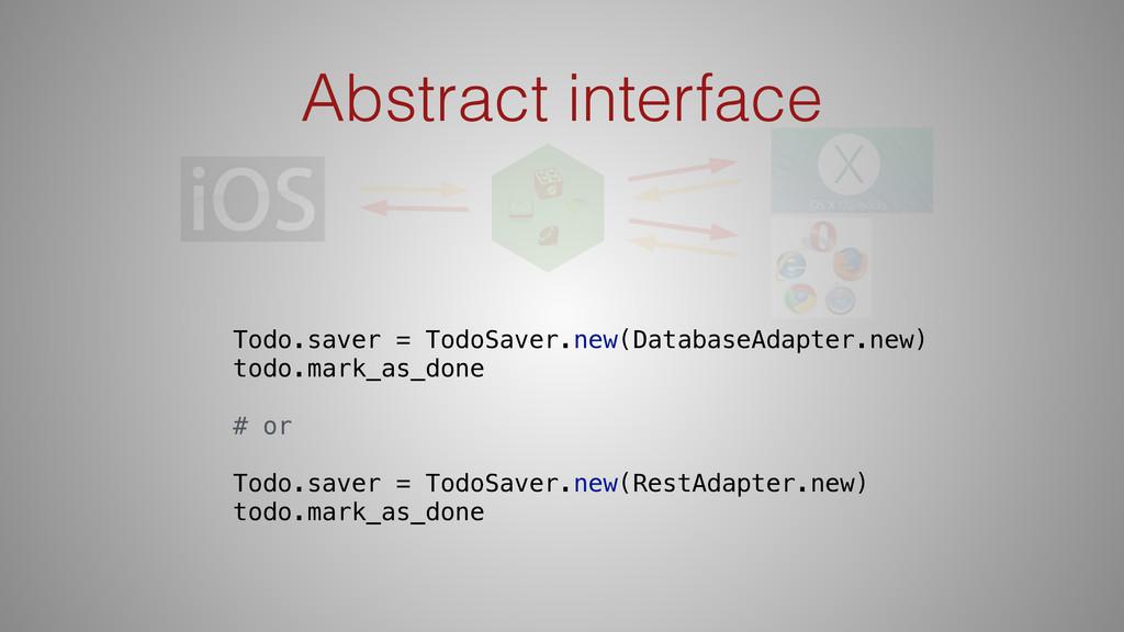 Abstract interface Todo.saver = TodoSaver.new(D...
