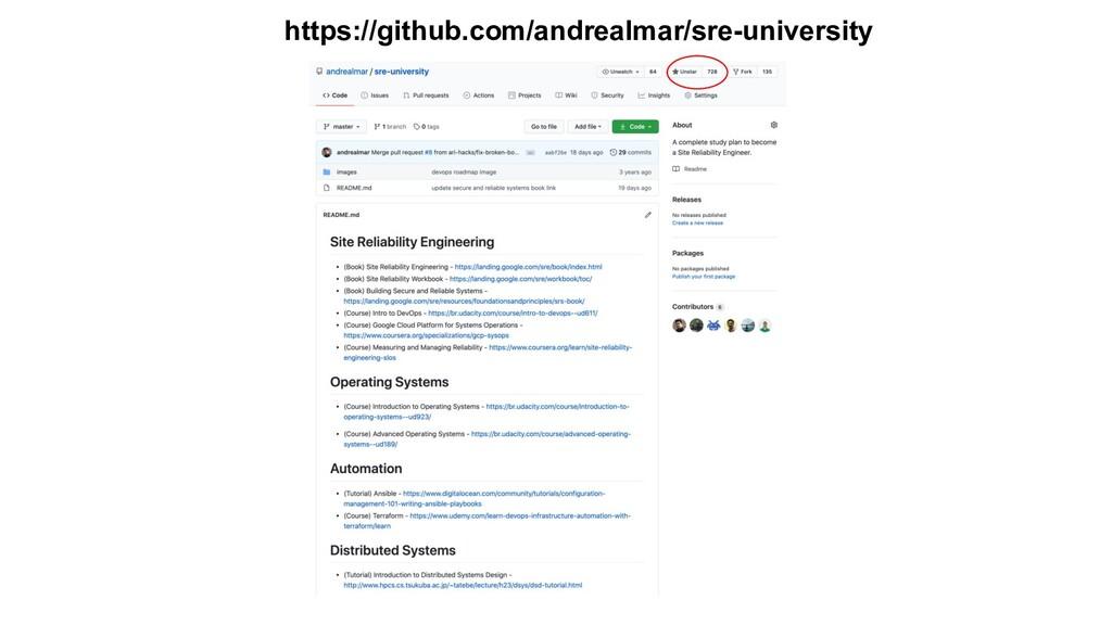 https://github.com/andrealmar/sre-university