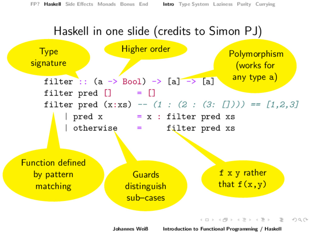 FP? Haskell Side Effects Monads Bonus End Intro ...