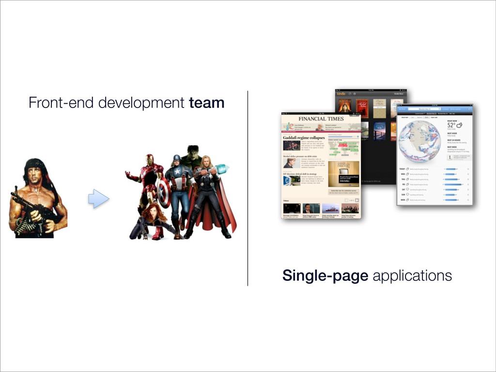 Front-end development team Single-page applicat...
