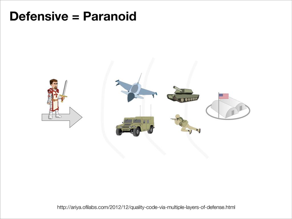 Defensive = Paranoid http://ariya.ofilabs.com/20...