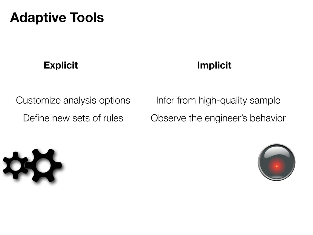 Adaptive Tools Explicit Implicit Customize anal...