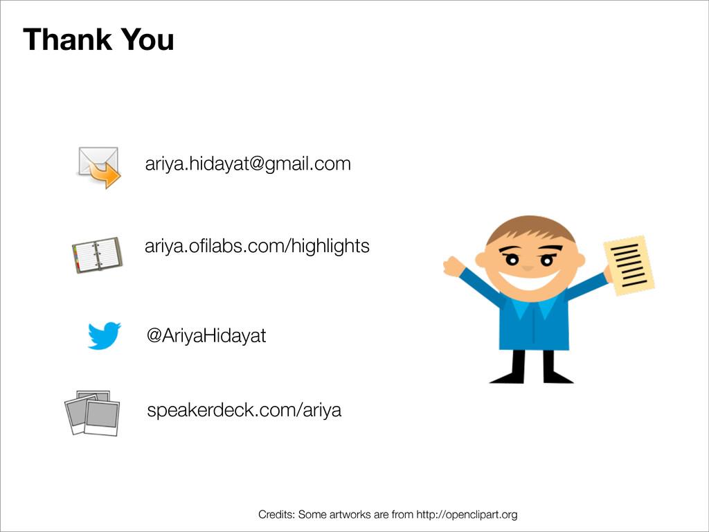 Thank You ariya.hidayat@gmail.com @AriyaHidayat...