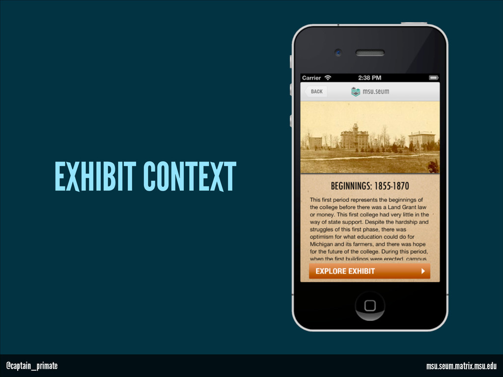 EXHIBIT CONTEXT msu.seum.matrix.msu.edu @captai...