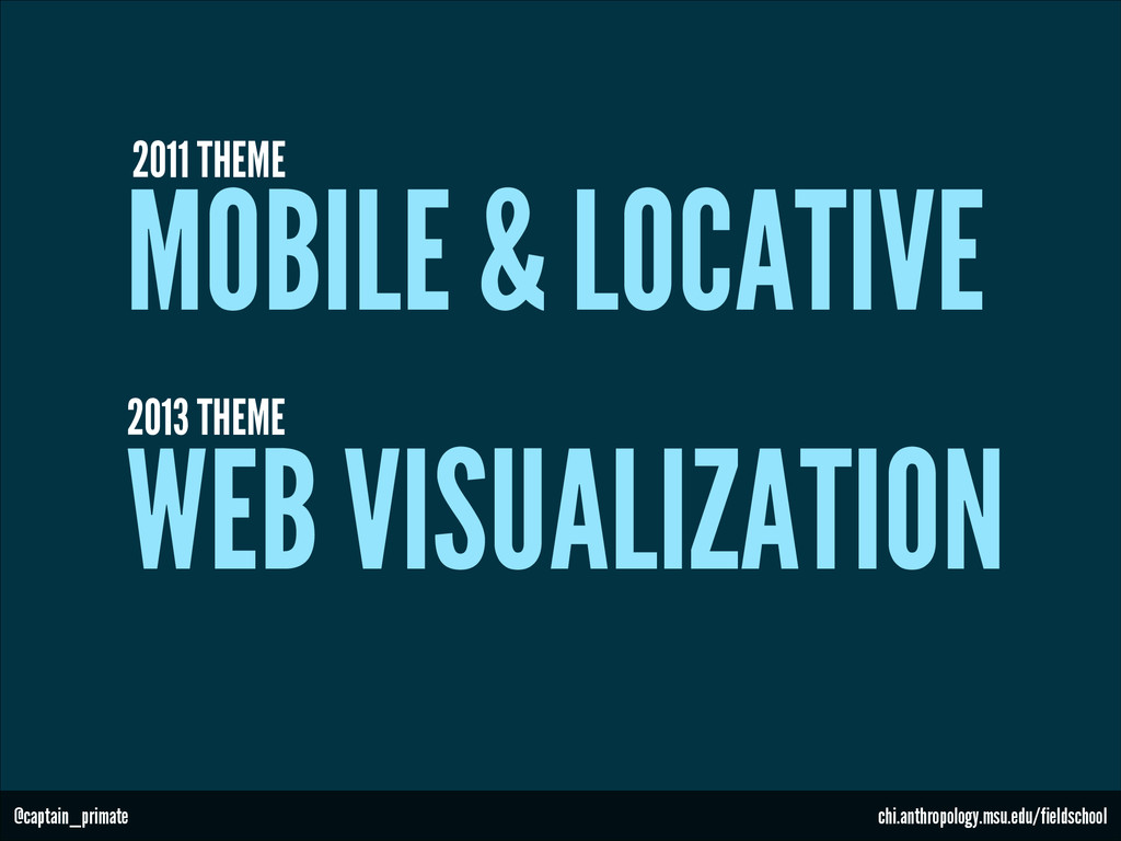 WEB VISUALIZATION 2013 THEME @captain_primate c...