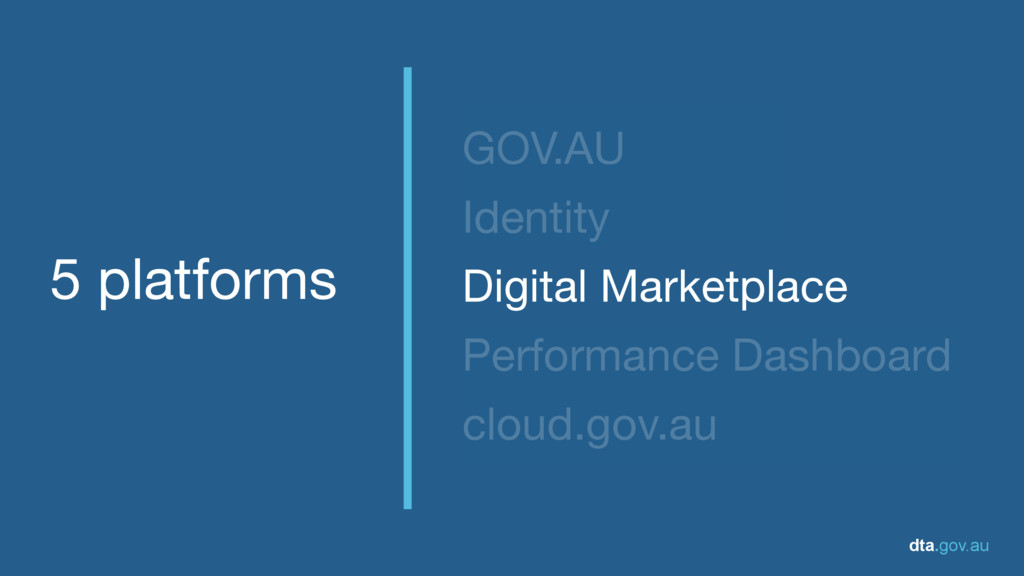dta.gov.au 5 platforms GOV.AU  Identity  Digita...