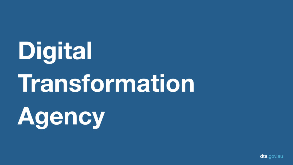 dta.gov.au Digital Transformation Agency
