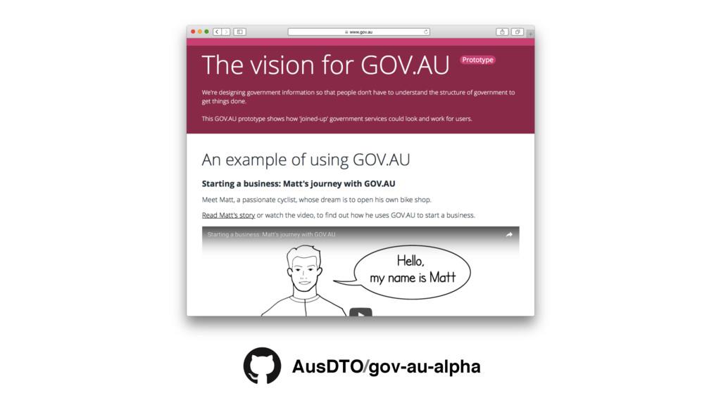AusDTO/gov-au-alpha