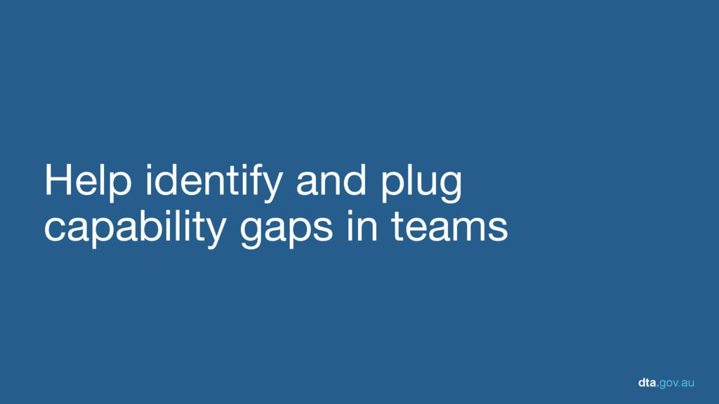 dta.gov.au Help identify and plug   capability ...