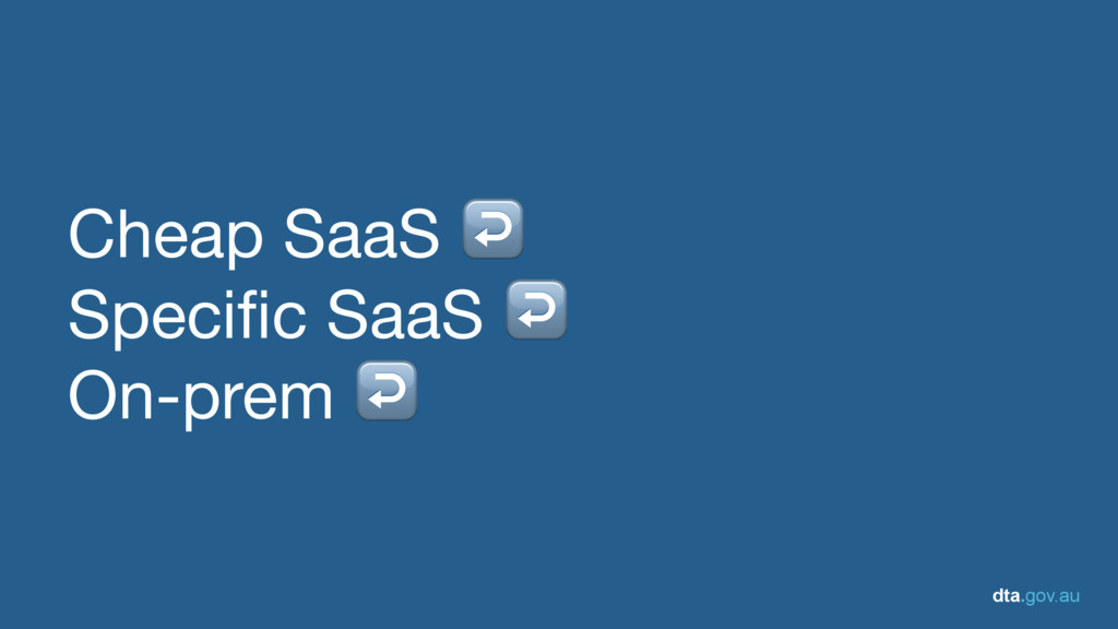 dta.gov.au Cheap SaaS ↩  Specific SaaS ↩ On-pre...