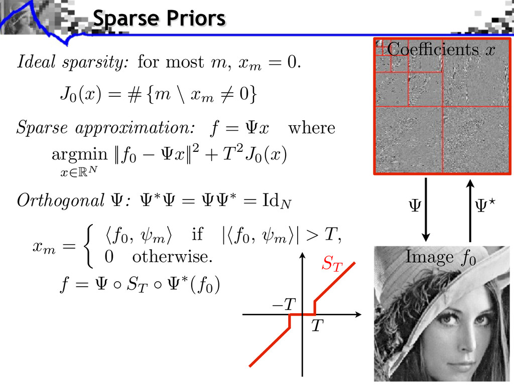 Ideal sparsity: for most m, xm = 0. J0 (x) = # ...