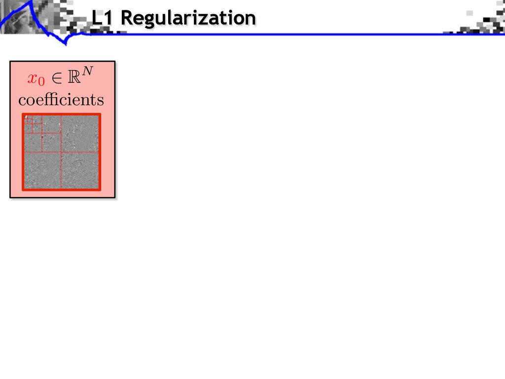 L1 Regularization coe cients x0 RN