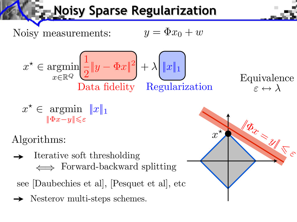 Iterative soft thresholding Forward-backward sp...