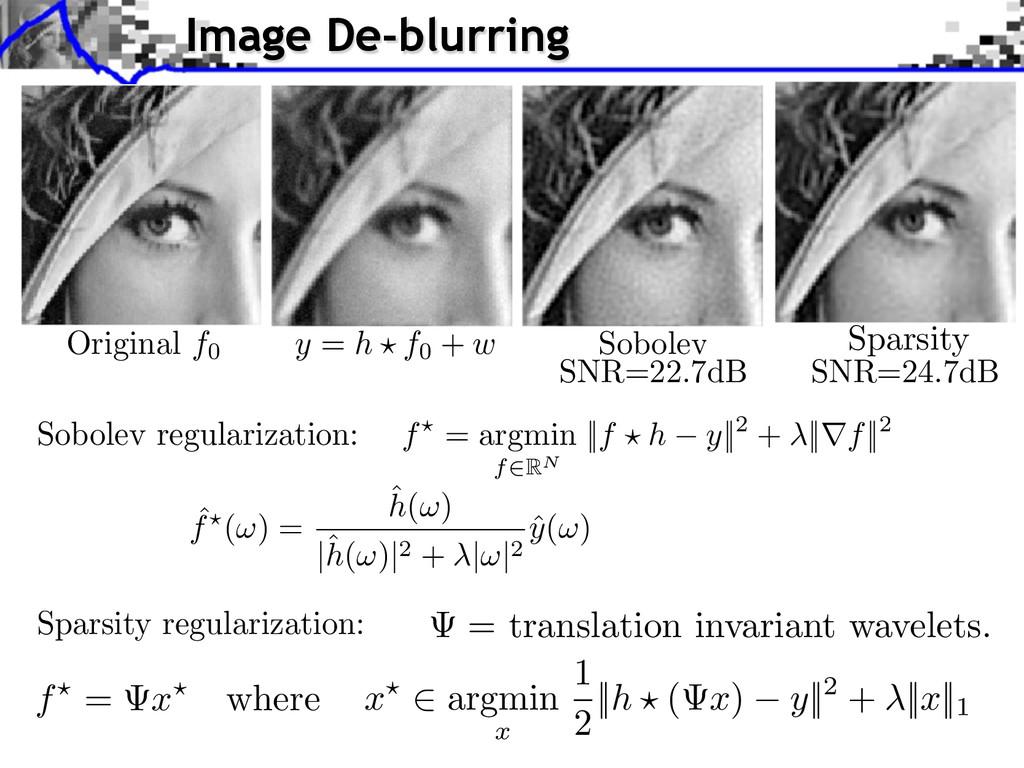 f = argmin f RN ||f ⇥ h y||2 + ||⇥f||2 ˆ f (⇥) ...