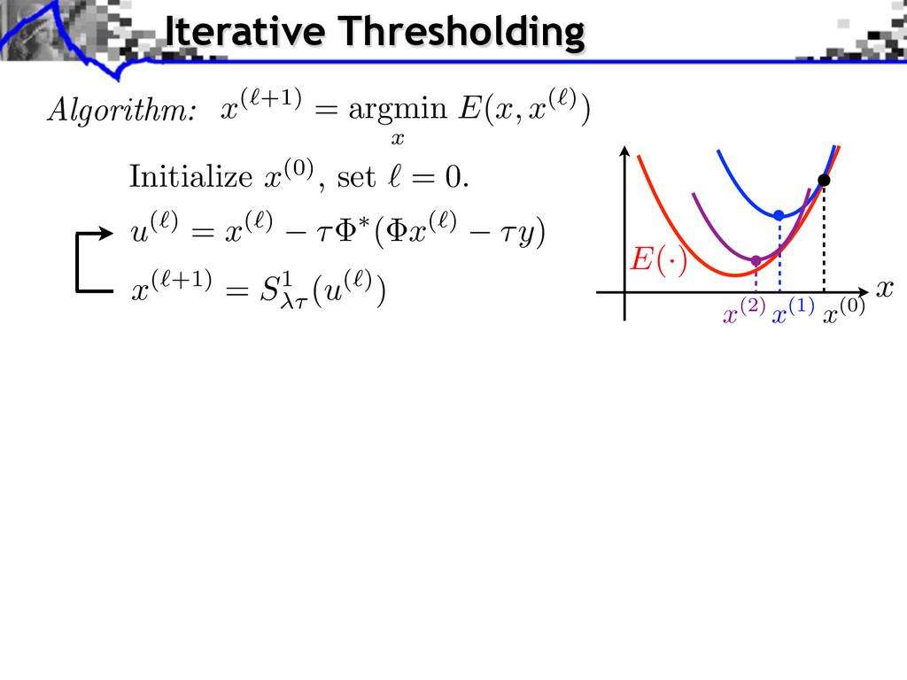 Algorithm: x ( ` +1) = argmin x E ( x, x ( ` ))...