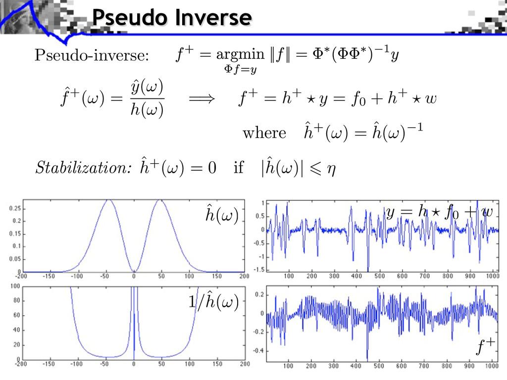 Pseudo-inverse: Stabilization: ˆ h+(⇥) = 0 if |...