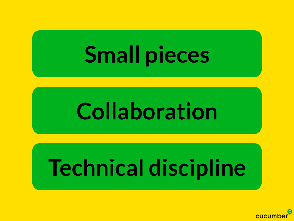 Technical discipline Collaboration Small pieces