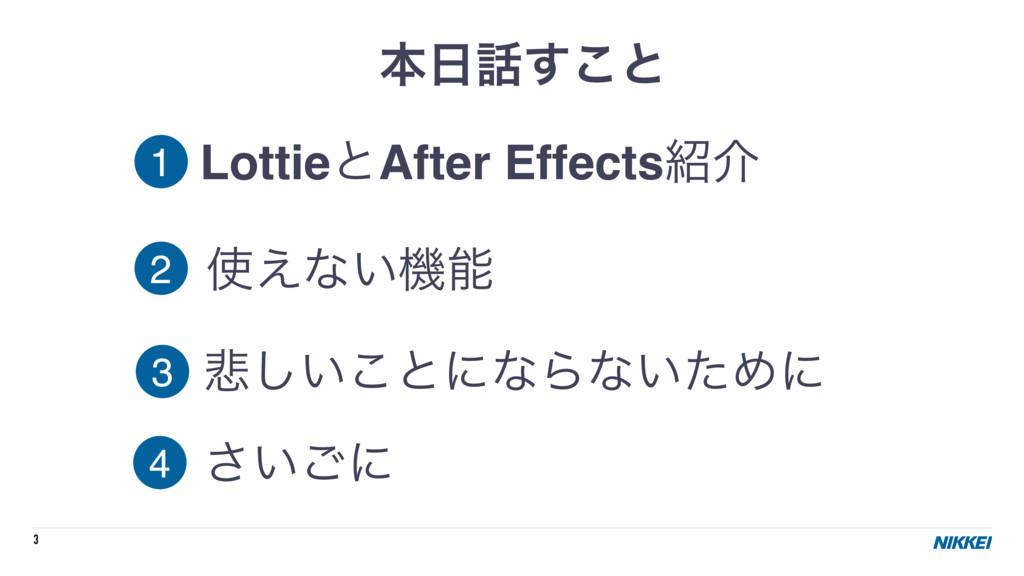 3 ຊ͢͜ͱ LottieͱAfter Effectsհ ͑ͳ͍ػ ൵͍͜͠ͱʹͳΒ...