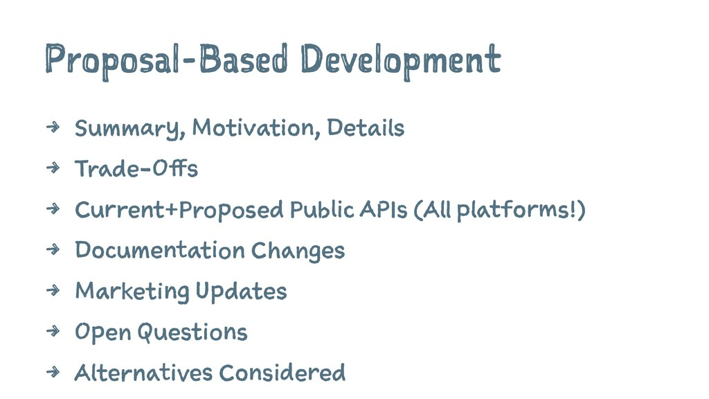 Proposal-Based Development 4 Summary, Motivatio...