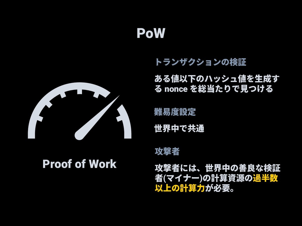 PoW Proof of Work nonce ( )