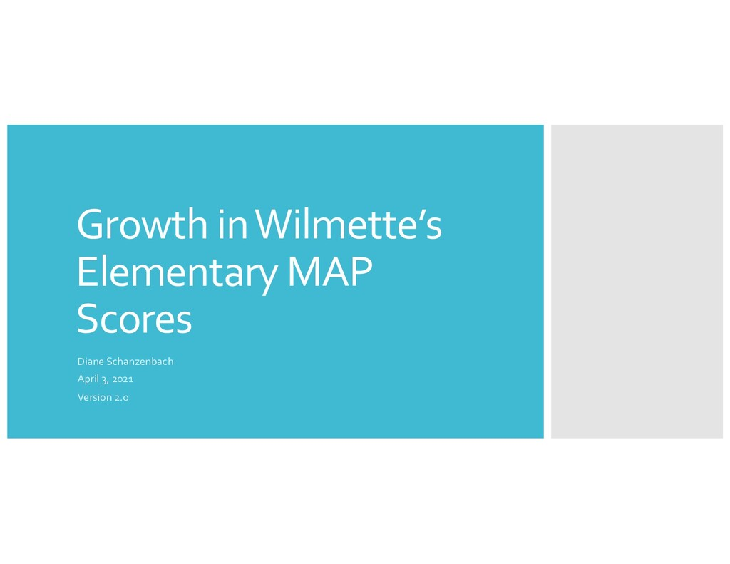 Growth in Wilmette's Elementary MAP Scores Dian...