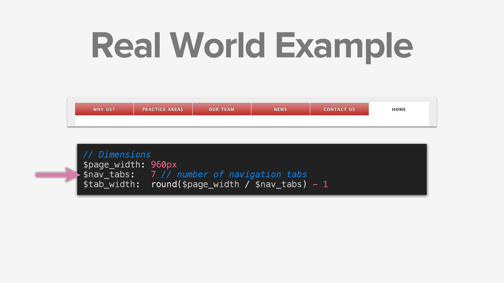 Real World Example // Dimensions $page_width: 9...