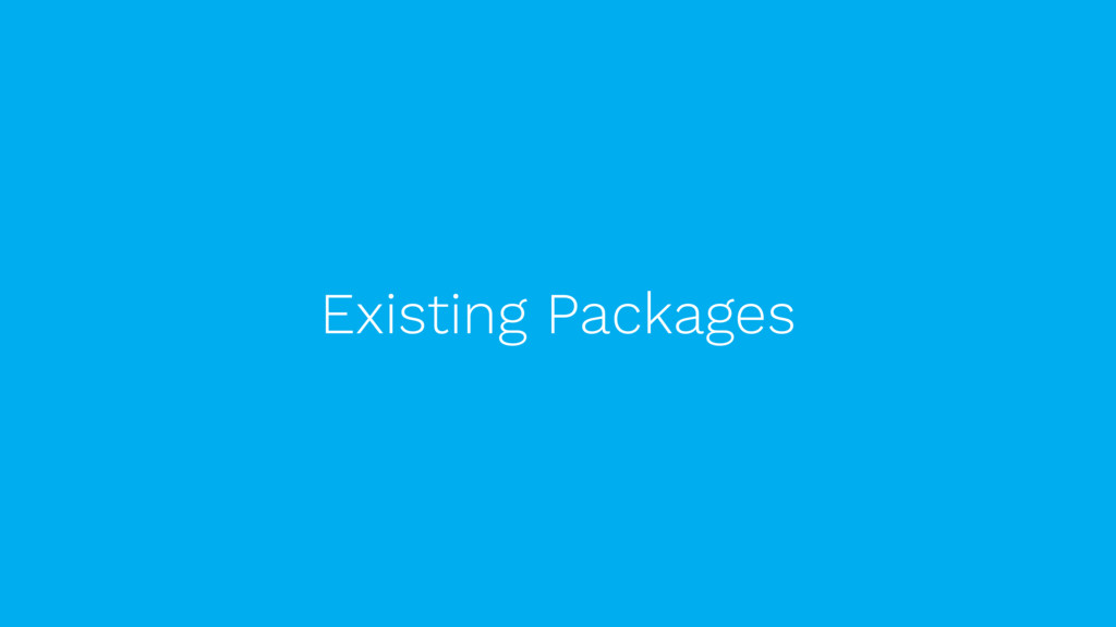 Existing Packages