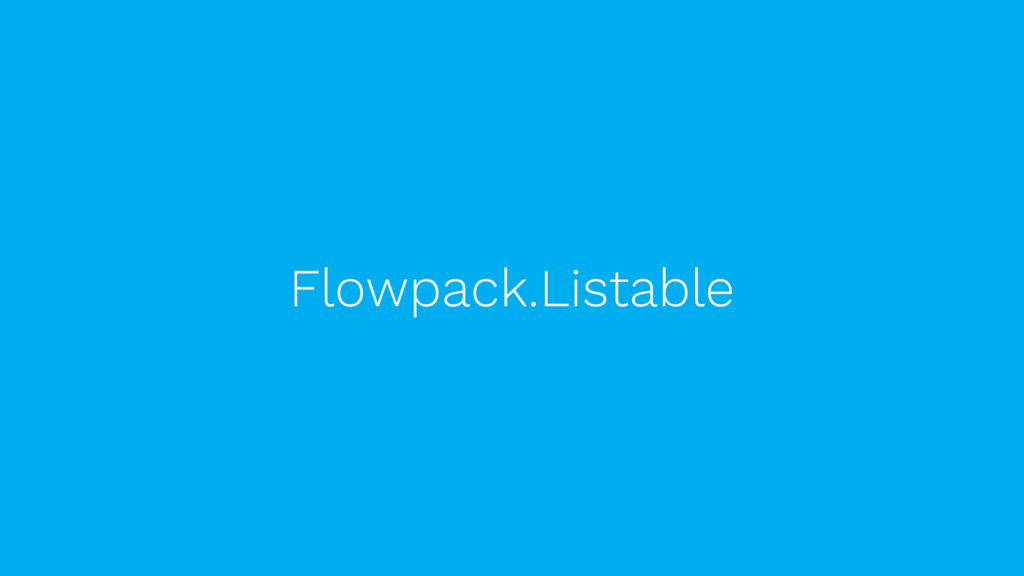 Flowpack.Listable
