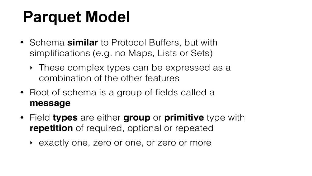 Parquet Model
