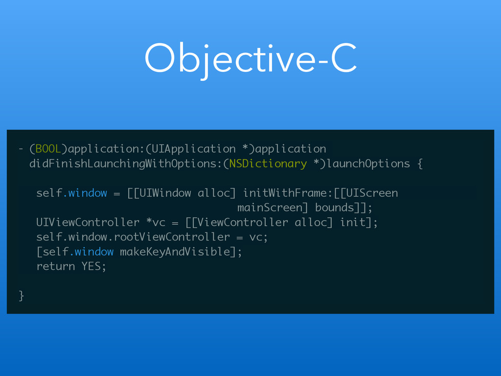 Objective-C - (BOOL)application:(UIApplication ...