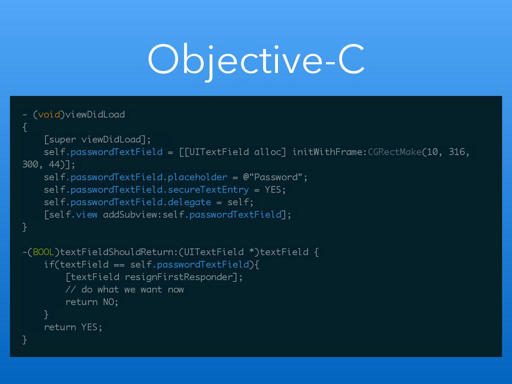 Objective-C - (void)viewDidLoad { [super viewDi...