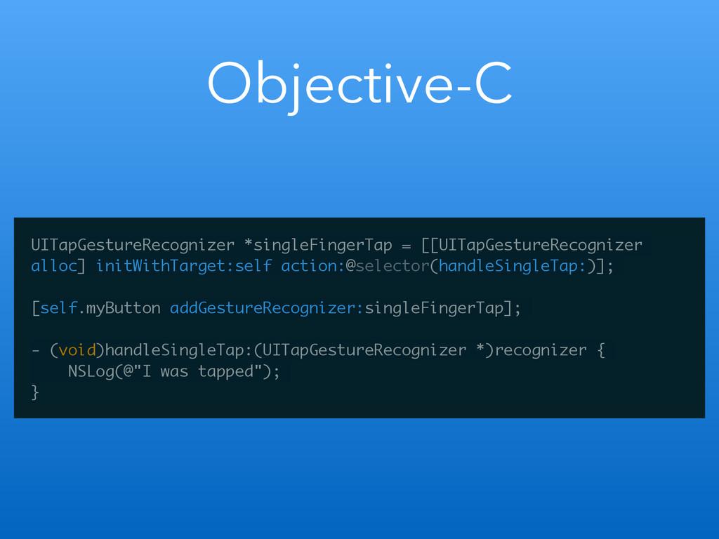 Objective-C UITapGestureRecognizer *singleFinge...