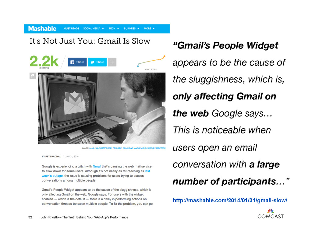 http://mashable.com/2014/01/31/gmail-slow/ John...