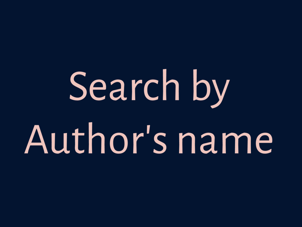 Search by Author's name