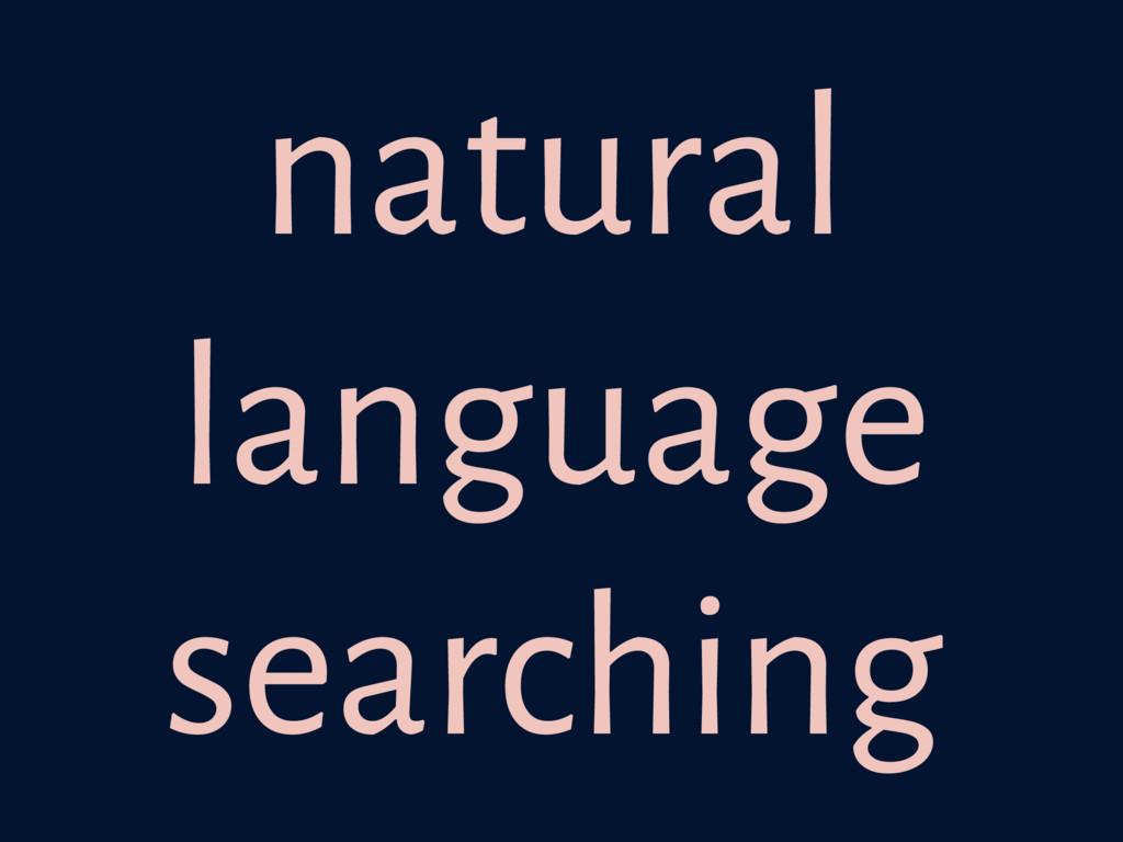natural language searching