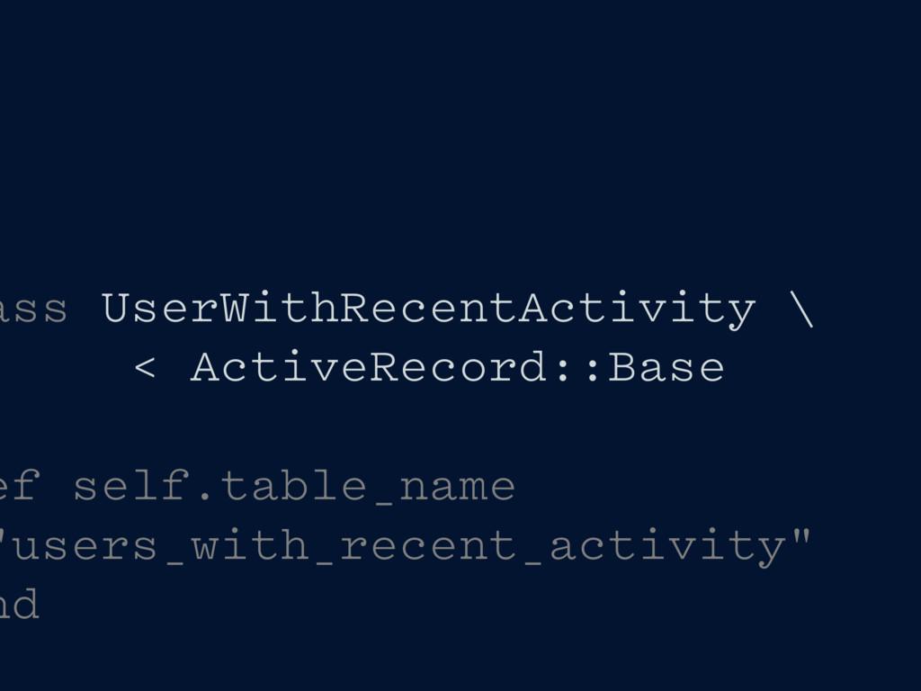 ass UserWithRecentActivity \ < ActiveRecord::Ba...