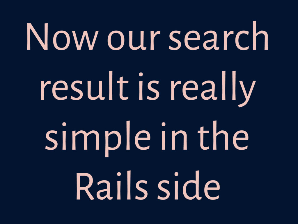 Now our search result is really simple in the R...