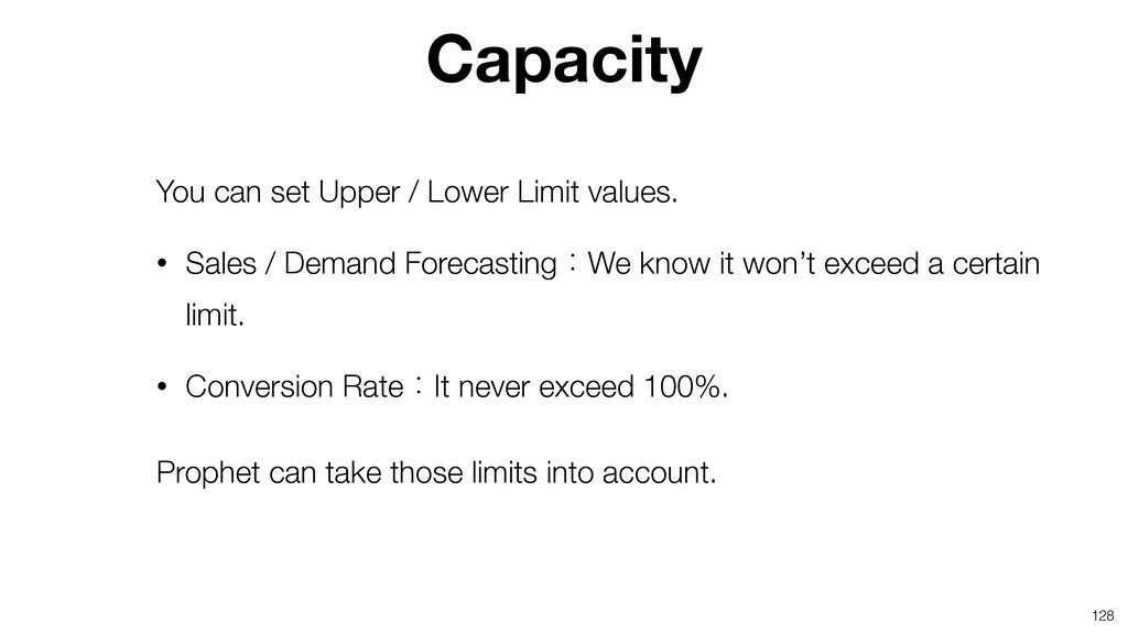 128 You can set Upper / Lower Limit values. • S...