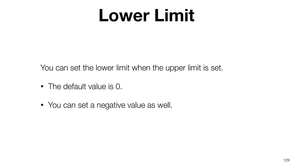 129 You can set the lower limit when the upper ...