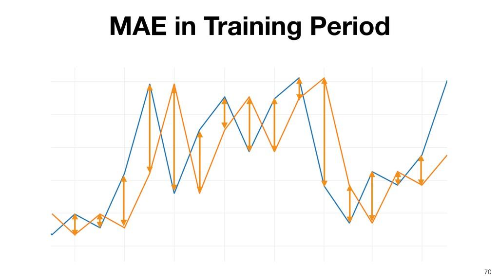 70 MAE in Training Period