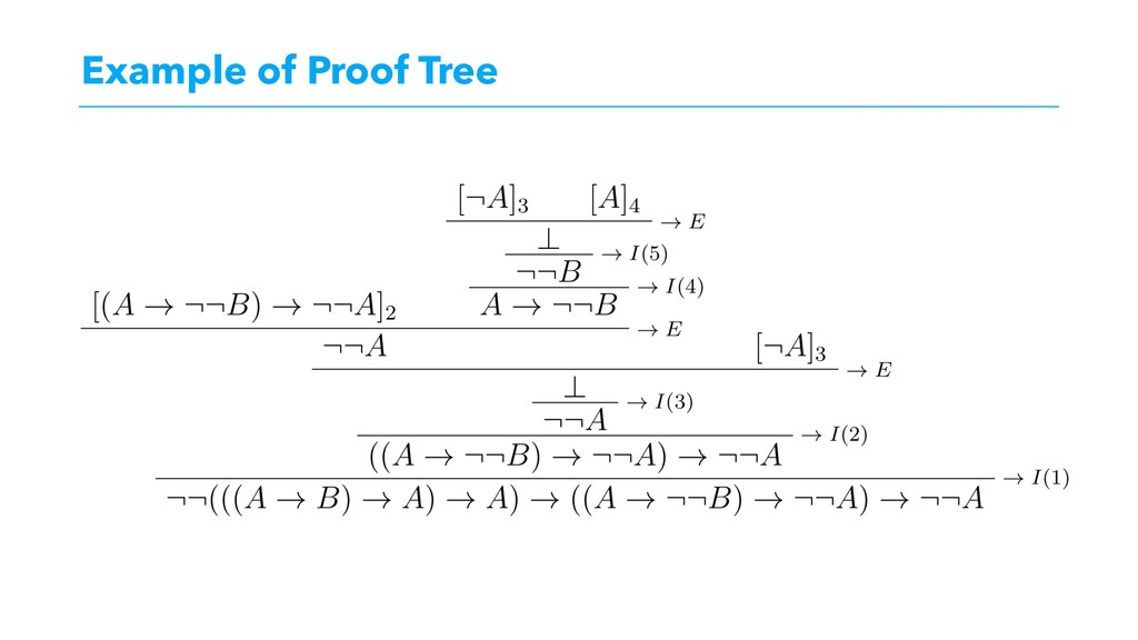 Example of Proof Tree